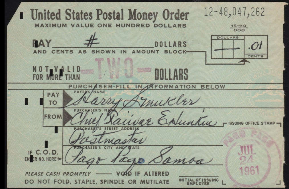 how to receive a money order
